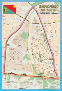 Карта Бирюлево Западное