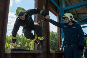 В Москве выбрали лучшего пожарного!