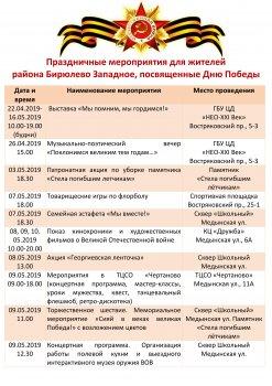 Праздничные мероприятия для жителей района Бирюлево Западное